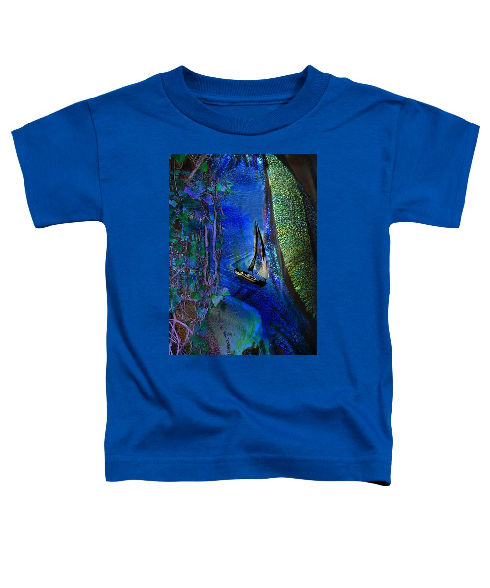 Dark River Toddler T-Shirt featuring the digital art Dark River by Lisa Yount