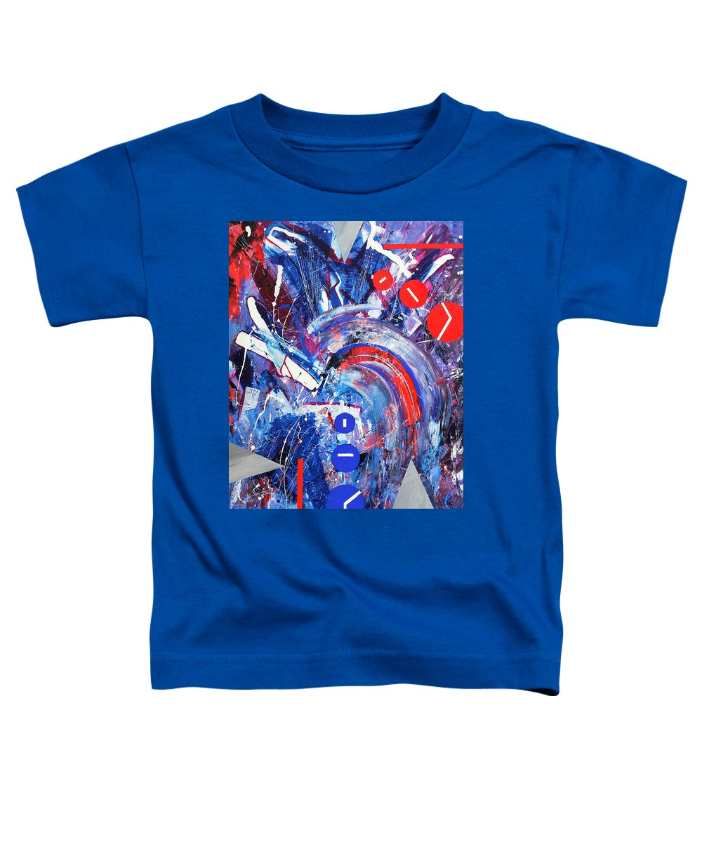 Abstract Toddler T-Shirt featuring the painting Dream Run 2001 by RalphGM