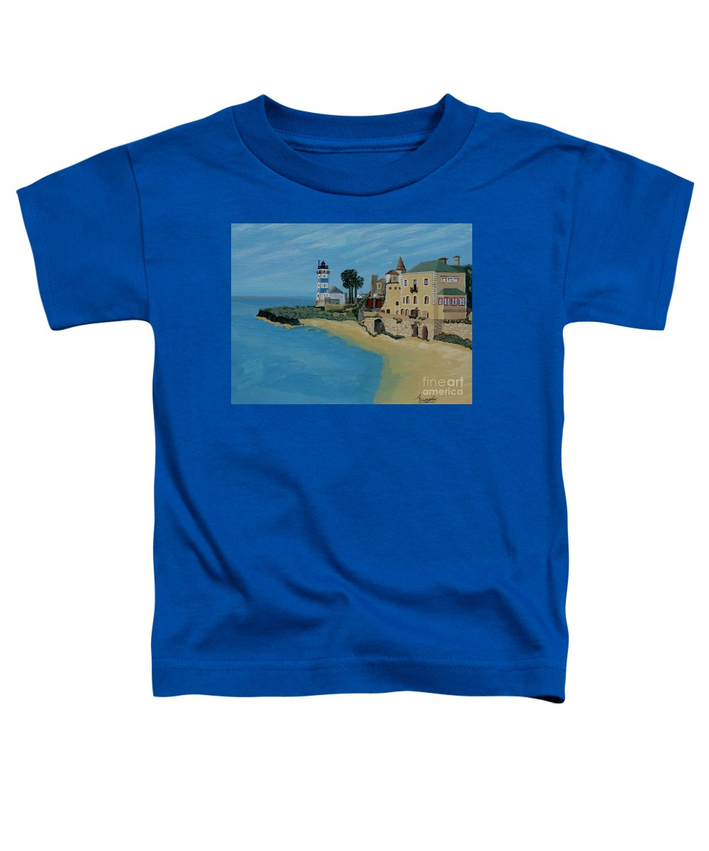 Lighthouse Toddler T-Shirt featuring the painting European Lighthouse by Anthony Dunphy