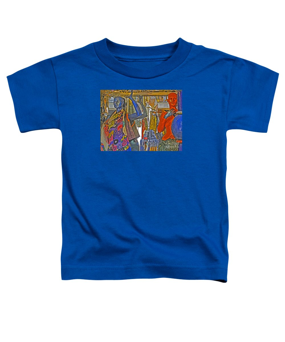 Fashion Toddler T-Shirt featuring the photograph Funky Boutique by Ann Horn