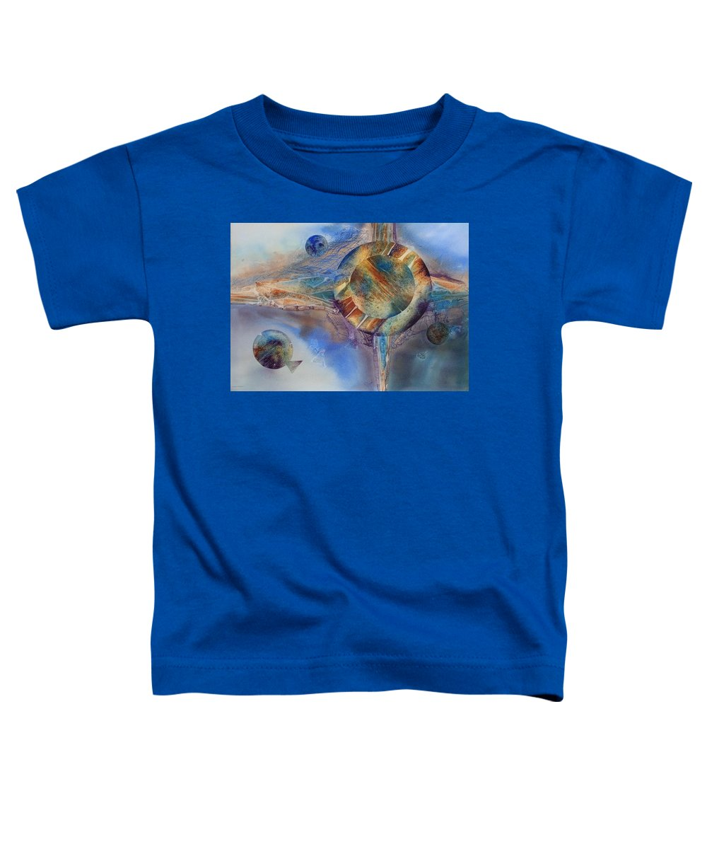 Spiritual Toddler T-Shirt featuring the painting Heavens Gate by Tara Moorman