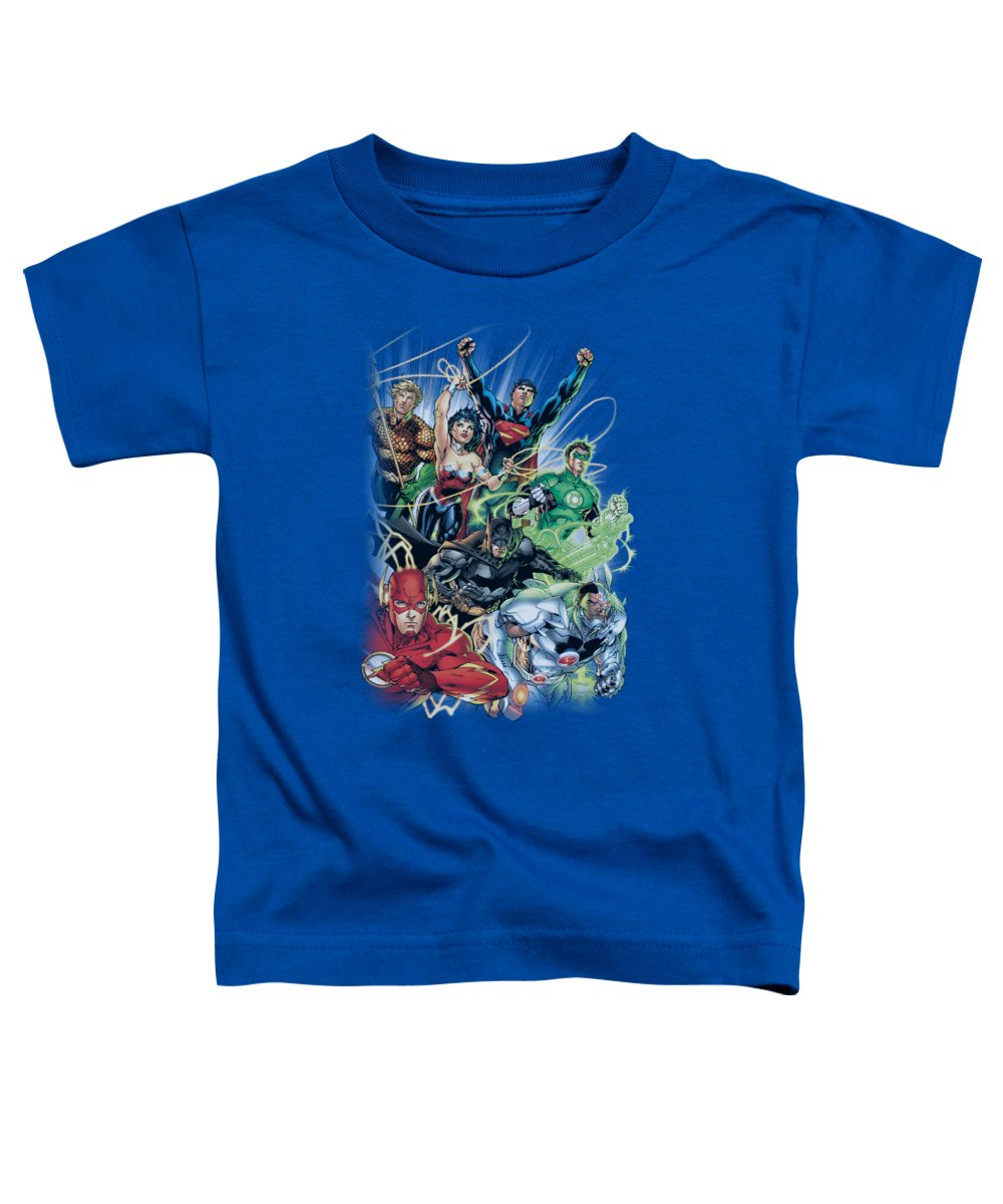 Justice League Of America Toddler T-Shirt featuring the digital art Jla - Justice League #1 by Brand A