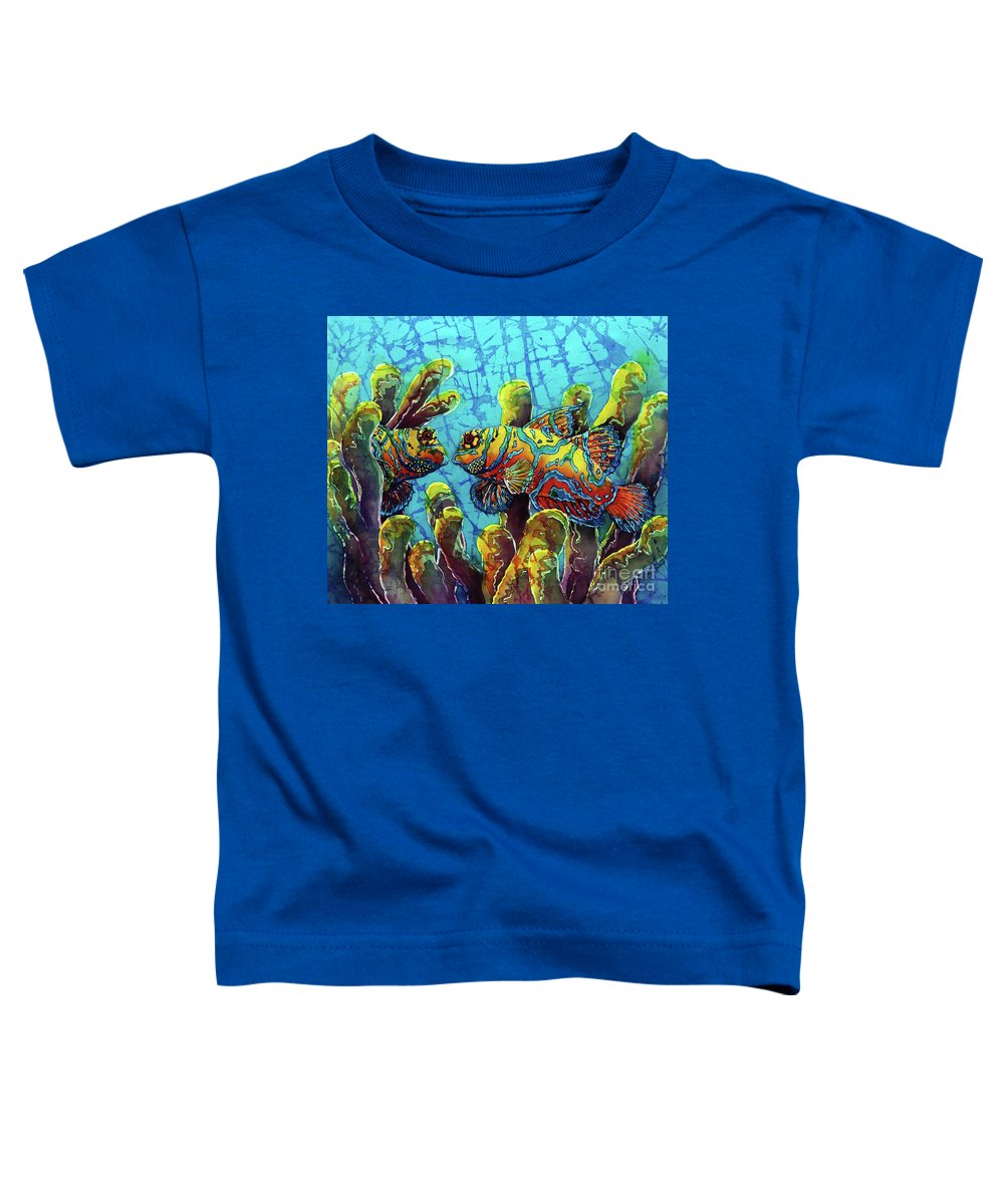 Mandarinfish Toddler T-Shirt featuring the painting Mandarinfish by Sue Duda