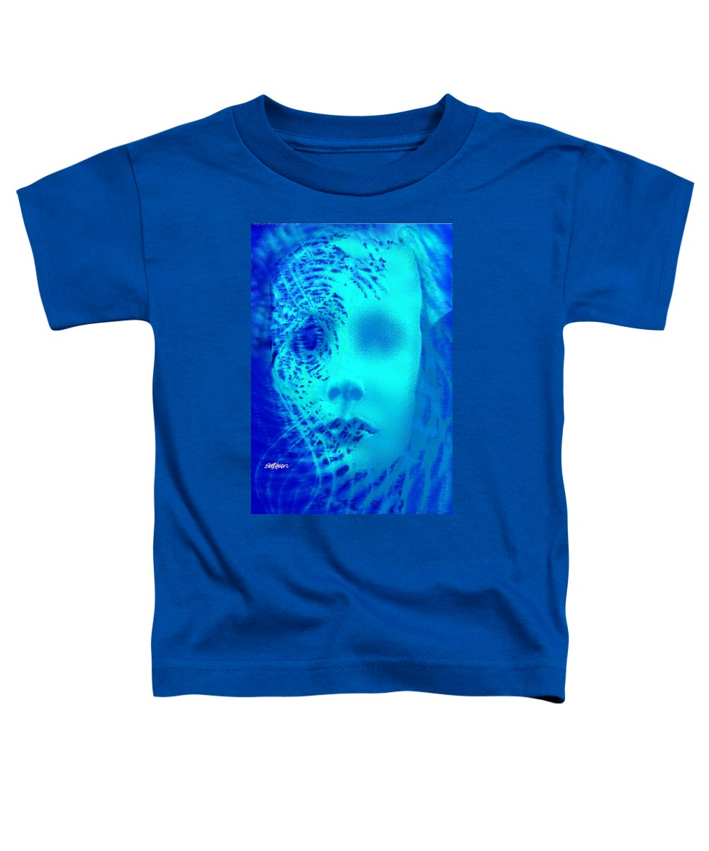 Shattered Doll Toddler T-Shirt featuring the digital art Shattered Doll by Seth Weaver