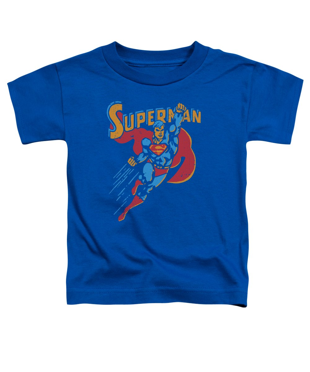 Superman Toddler T-Shirt featuring the digital art Superman - Life Like Action by Brand A