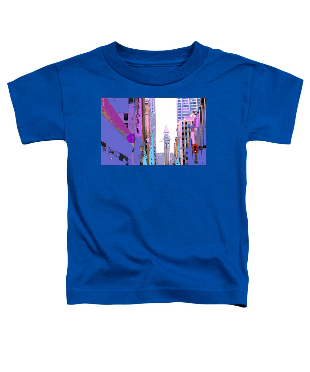 Bay Toddler T-Shirt featuring the photograph Toronto Old City Hall by Ian MacDonald