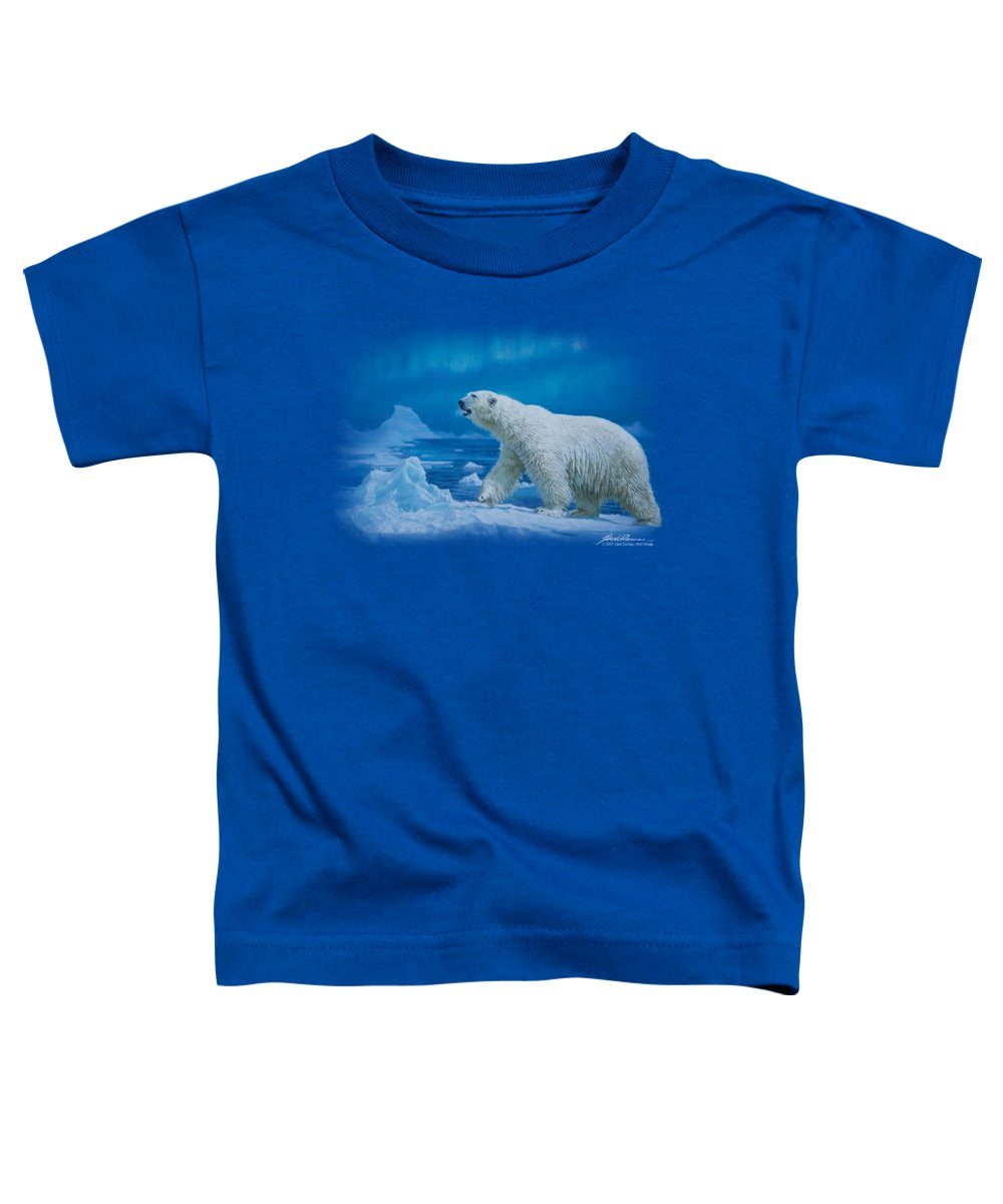 Wildlife Toddler T-Shirt featuring the digital art Wildlife - Nomad Of The North by Brand A