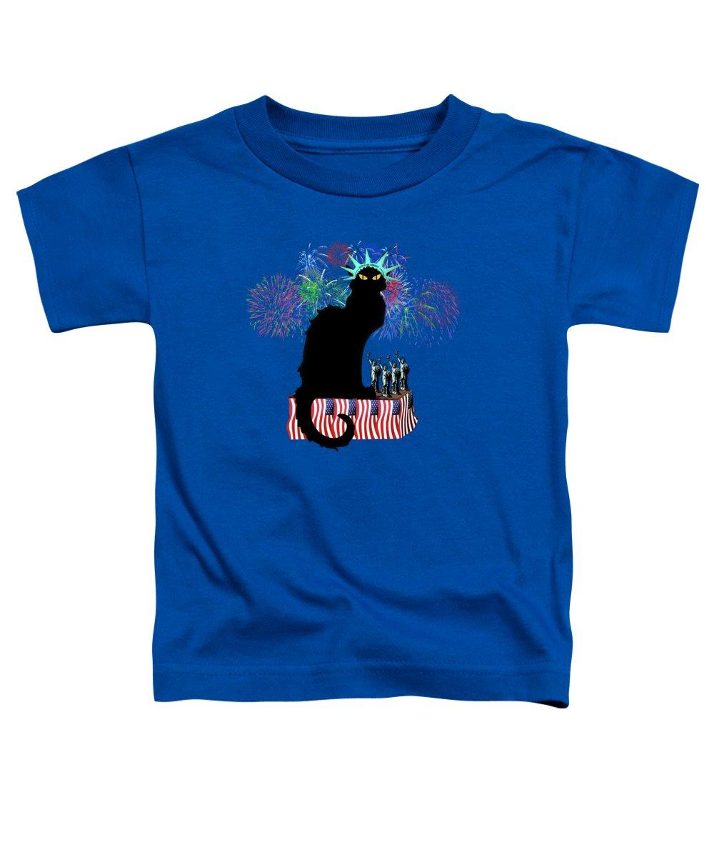 Fireworks Mixed Media Toddler T-Shirts