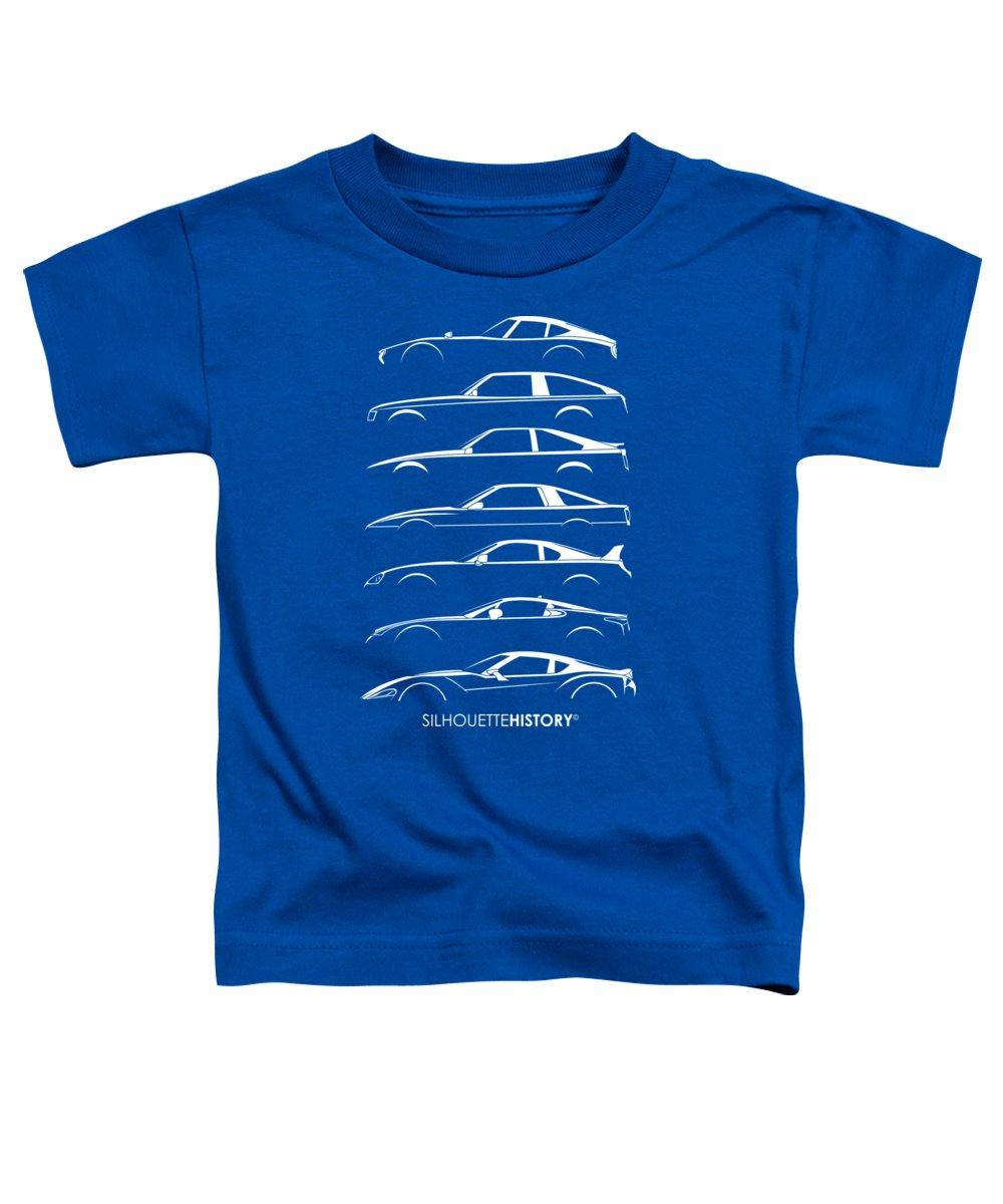 Japanese Car Toddler T-Shirt featuring the digital art Japanese Sports Car Silhouettehistory by Gabor Vida