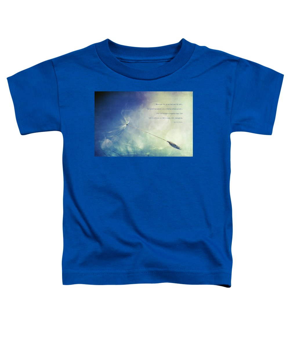 Dandelion Toddler T-Shirt featuring the photograph A Photographer's Eye by Joy Gerow
