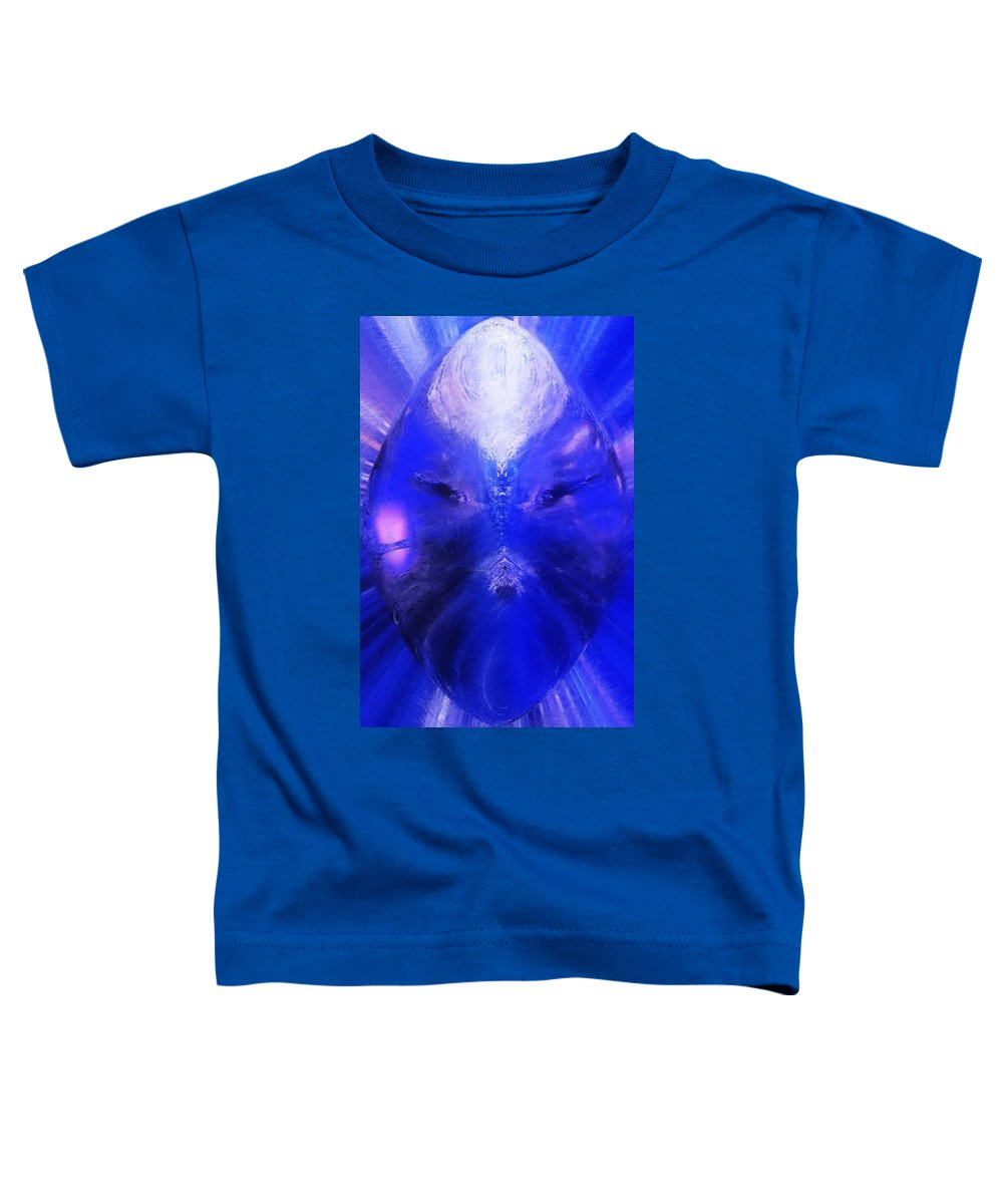 Digital Painting Toddler T-Shirt featuring the digital art An Alien Visage by David Lane