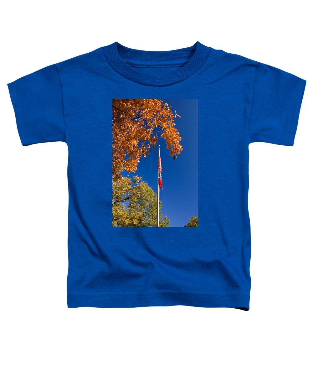 Flag Toddler T-Shirt featuring the photograph Autumn Flag by Douglas Barnett