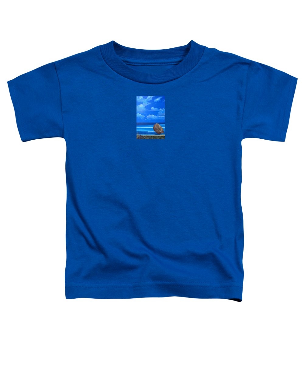 Barbados Toddler T-Shirt featuring the painting Bathsheba by Hunter Jay