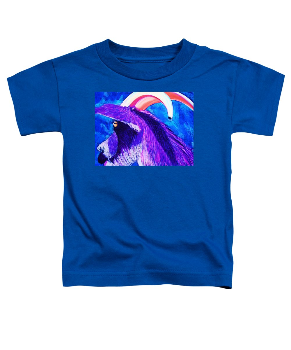 Goat Toddler T-Shirt featuring the pastel Billy The Kid by Melinda Etzold