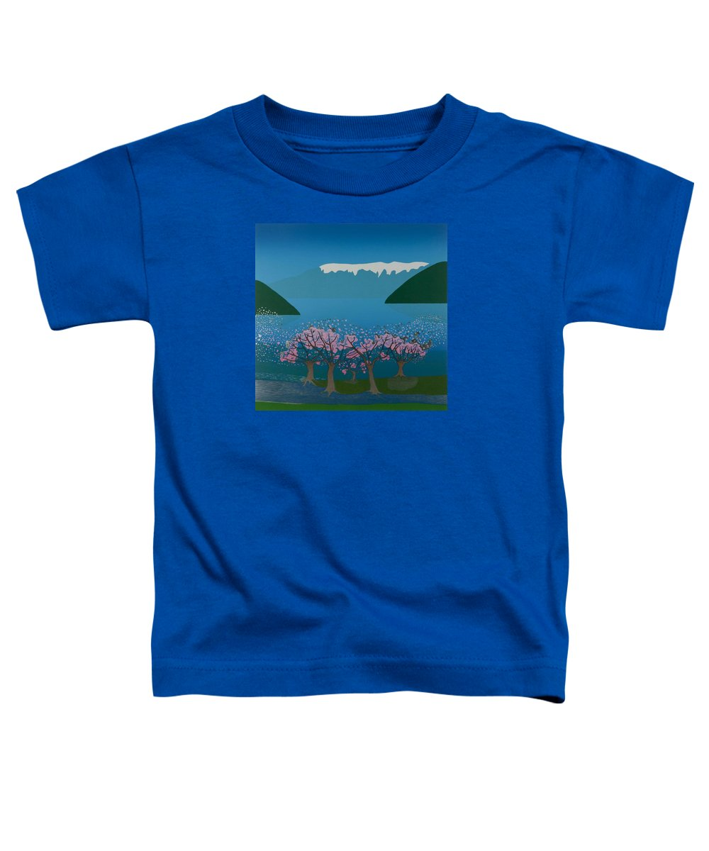 Landscape Toddler T-Shirt featuring the mixed media Blossom In The Hardanger Fjord by Jarle Rosseland
