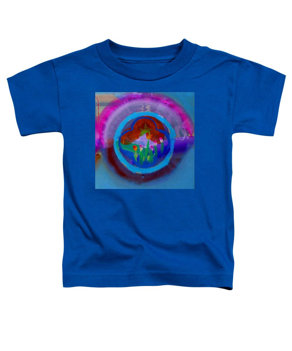 Love Toddler T-Shirt featuring the painting Blue Embrace by Charles Stuart