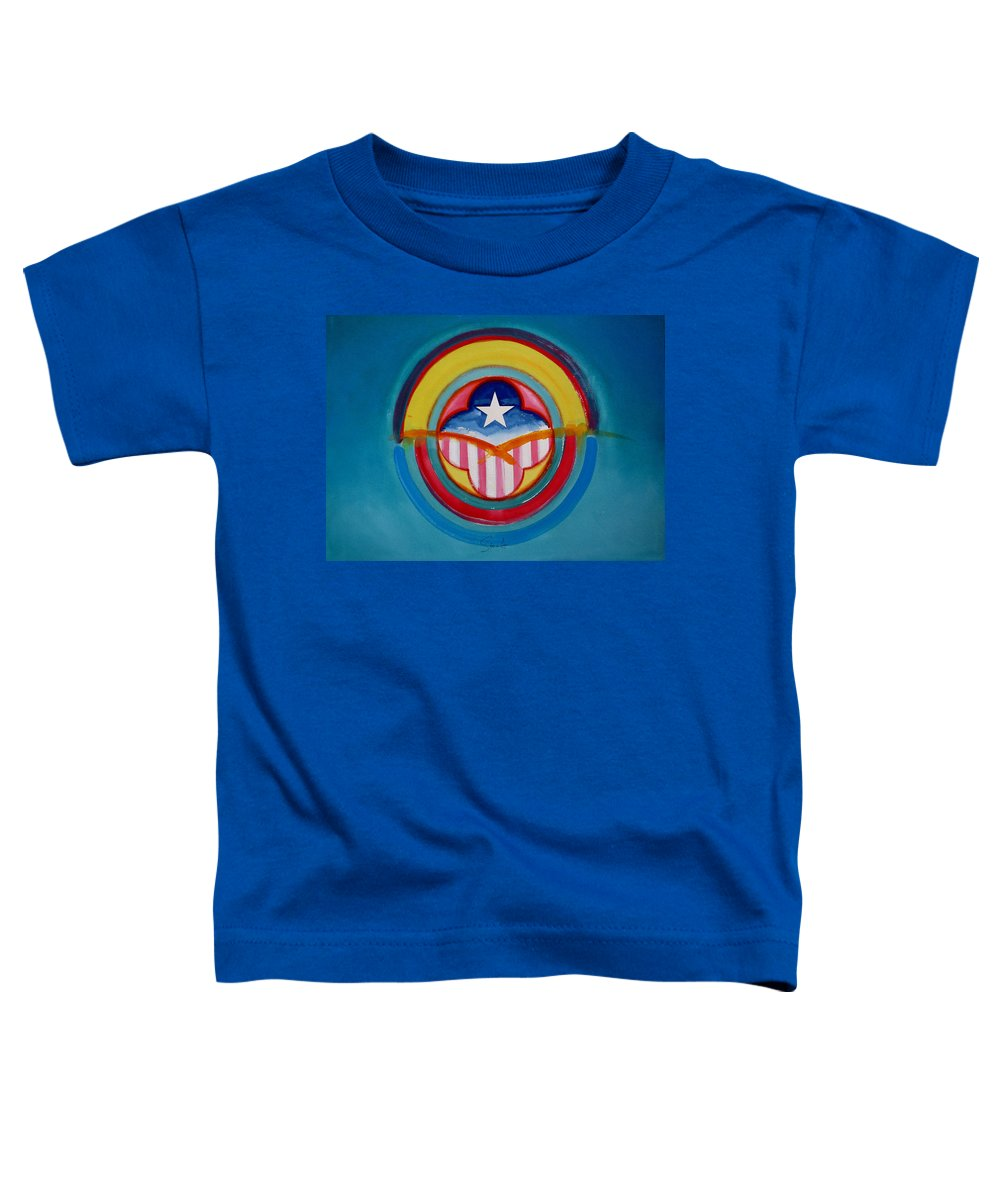 Button Toddler T-Shirt featuring the painting CIA by Charles Stuart