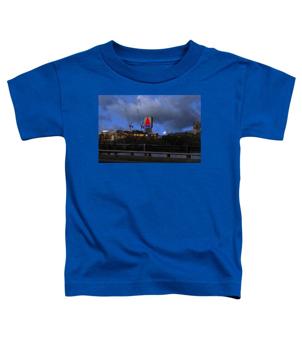 Citgo Sign Toddler T-Shirt featuring the digital art Citgo Sign by Edward Cardini