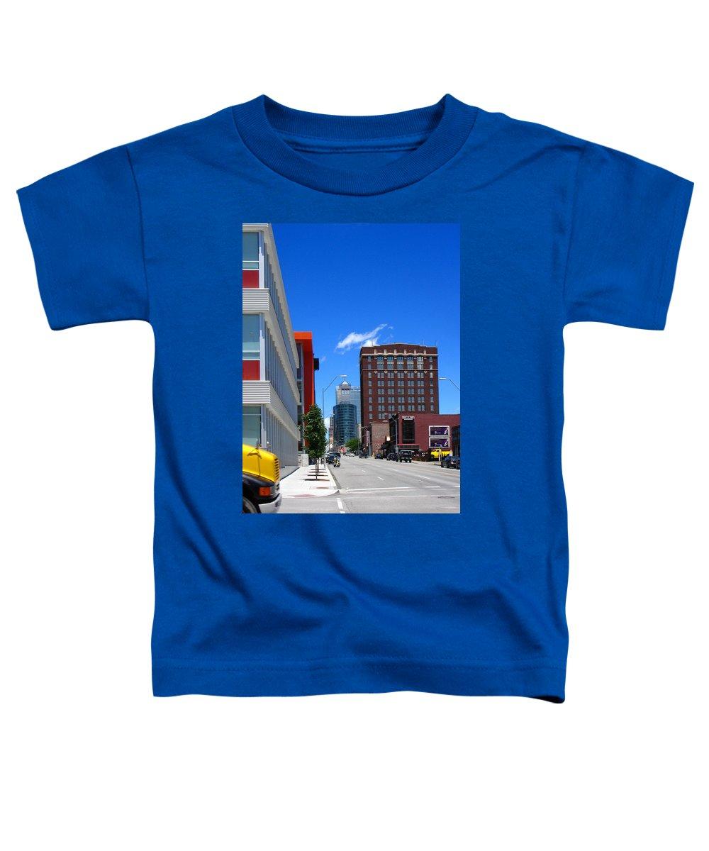 Kansas City Toddler T-Shirt featuring the photograph City Street by Steve Karol