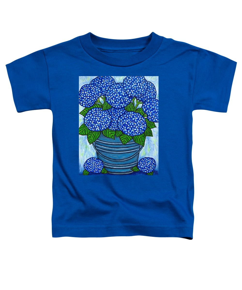 Blue Toddler T-Shirt featuring the painting Country Blues by Lisa Lorenz
