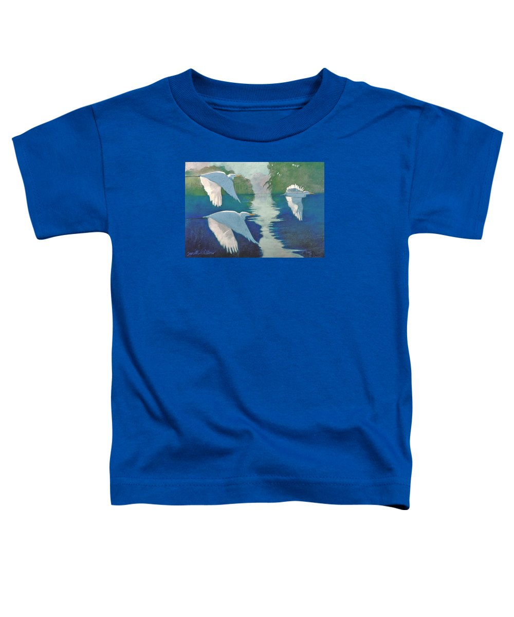 Birds Toddler T-Shirt featuring the painting Dawn Patrol by Neal Smith-Willow