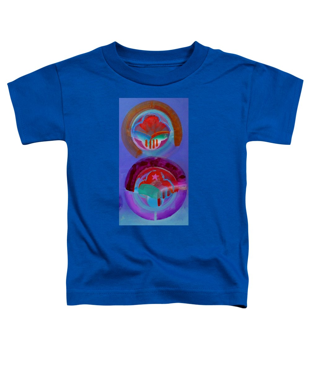 Logo Toddler T-Shirt featuring the painting Diptych by Charles Stuart
