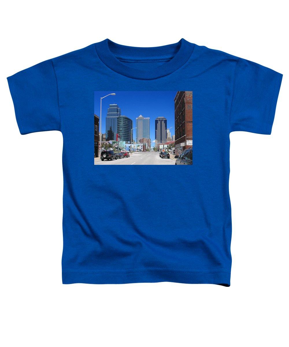 City Toddler T-Shirt featuring the photograph Downtown Kansas City by Steve Karol