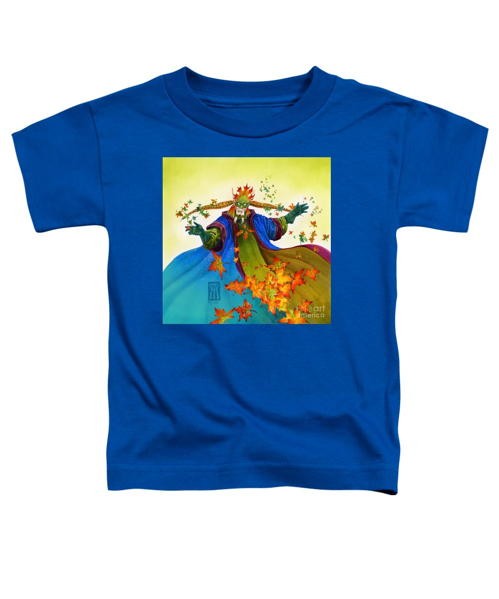 Elf Toddler T-Shirt featuring the painting Elven Mage by Melissa A Benson