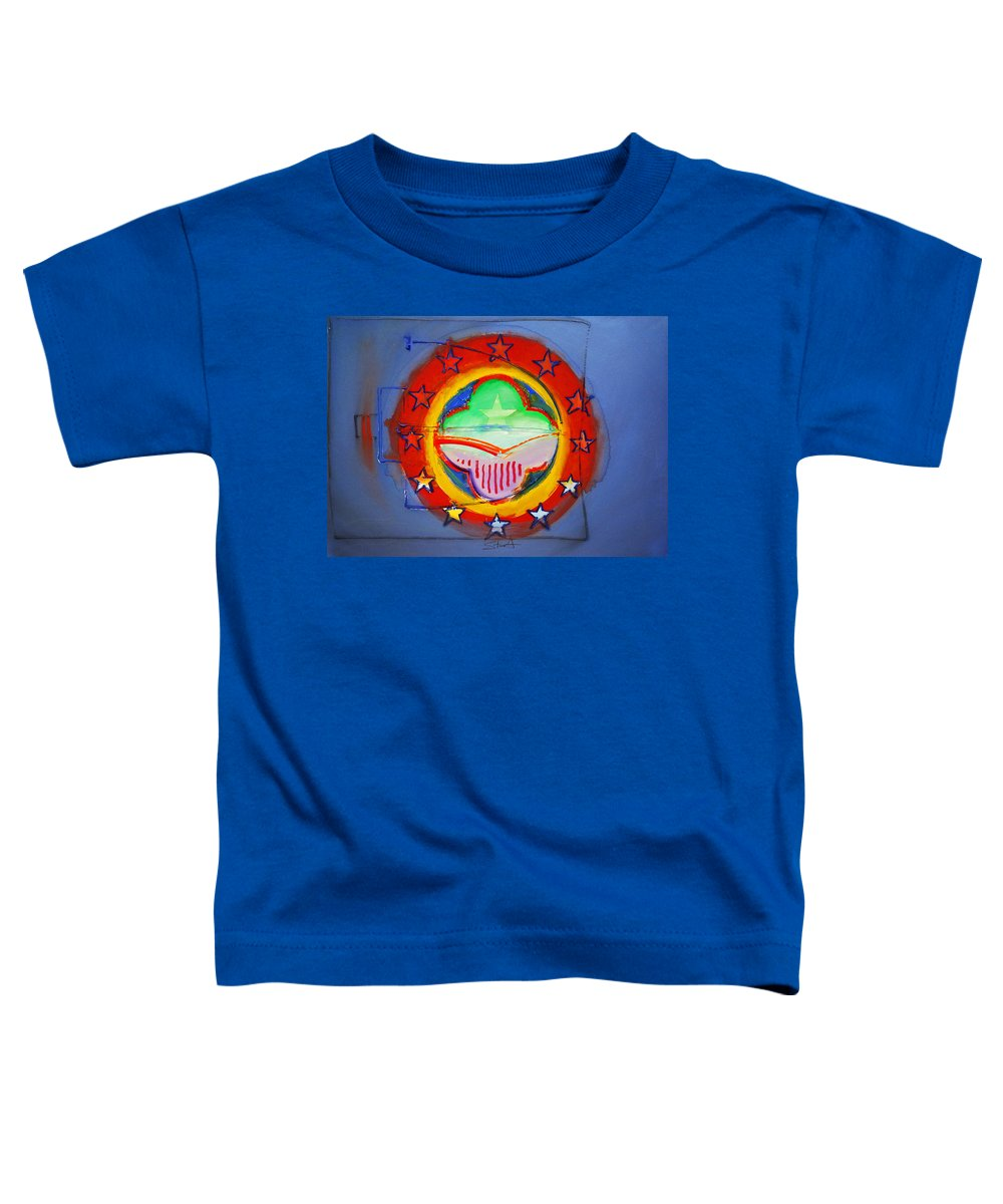 Symbol Toddler T-Shirt featuring the painting EMU by Charles Stuart
