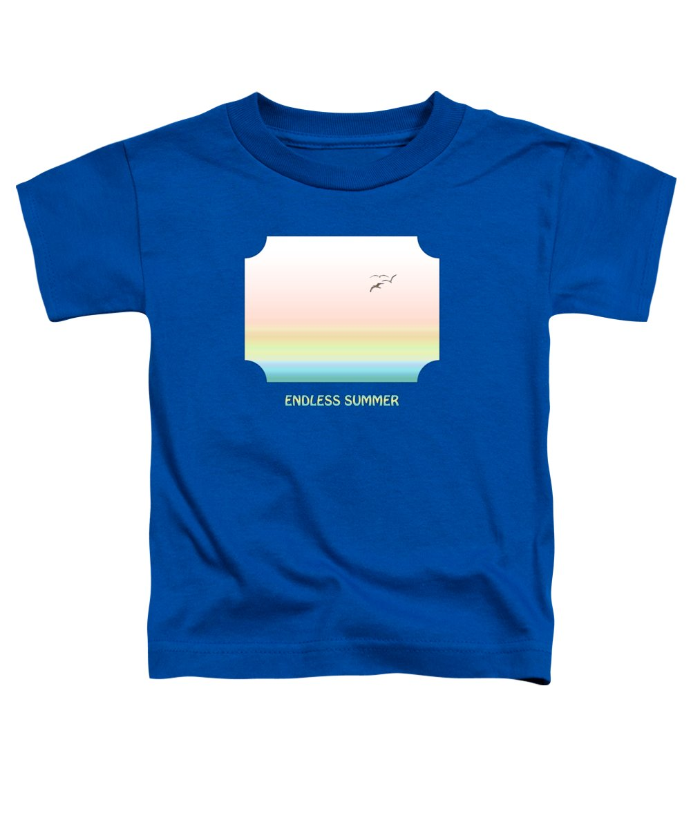 Ocean Toddler T-Shirt featuring the photograph Endless Summer - Blue by Gill Billington