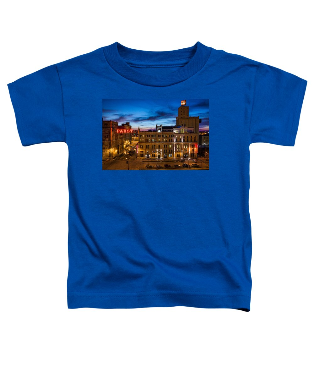 Bill Pevlor Toddler T-Shirt featuring the photograph Evening At Pabst by Bill Pevlor