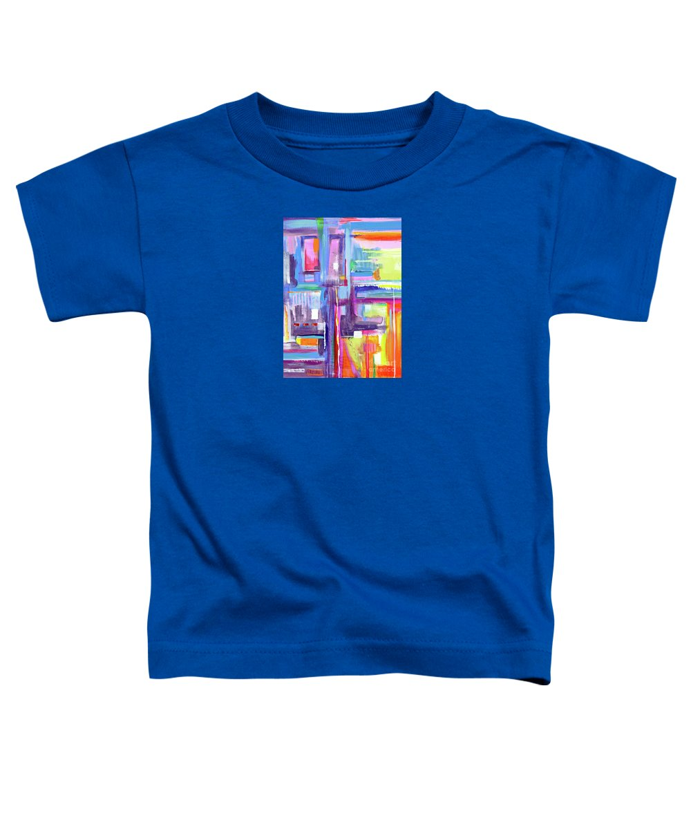 A Scape. New Series Begins Here.and The Title Eyedropper Toddler T-Shirt featuring the painting Eye Dropper by Priscilla Batzell Expressionist Art Studio Gallery