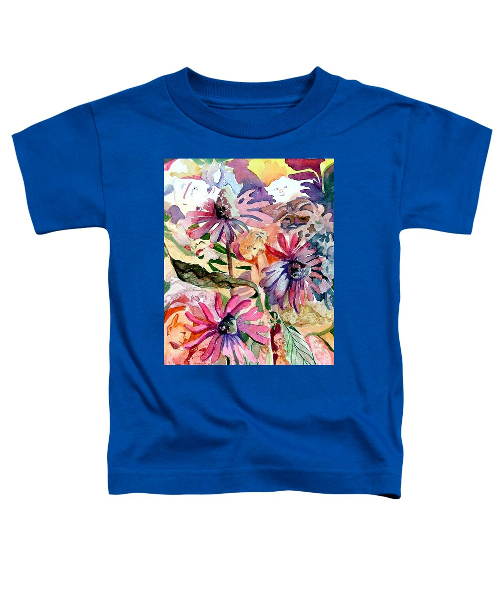 Daisy Toddler T-Shirt featuring the painting Fairy Land by Mindy Newman