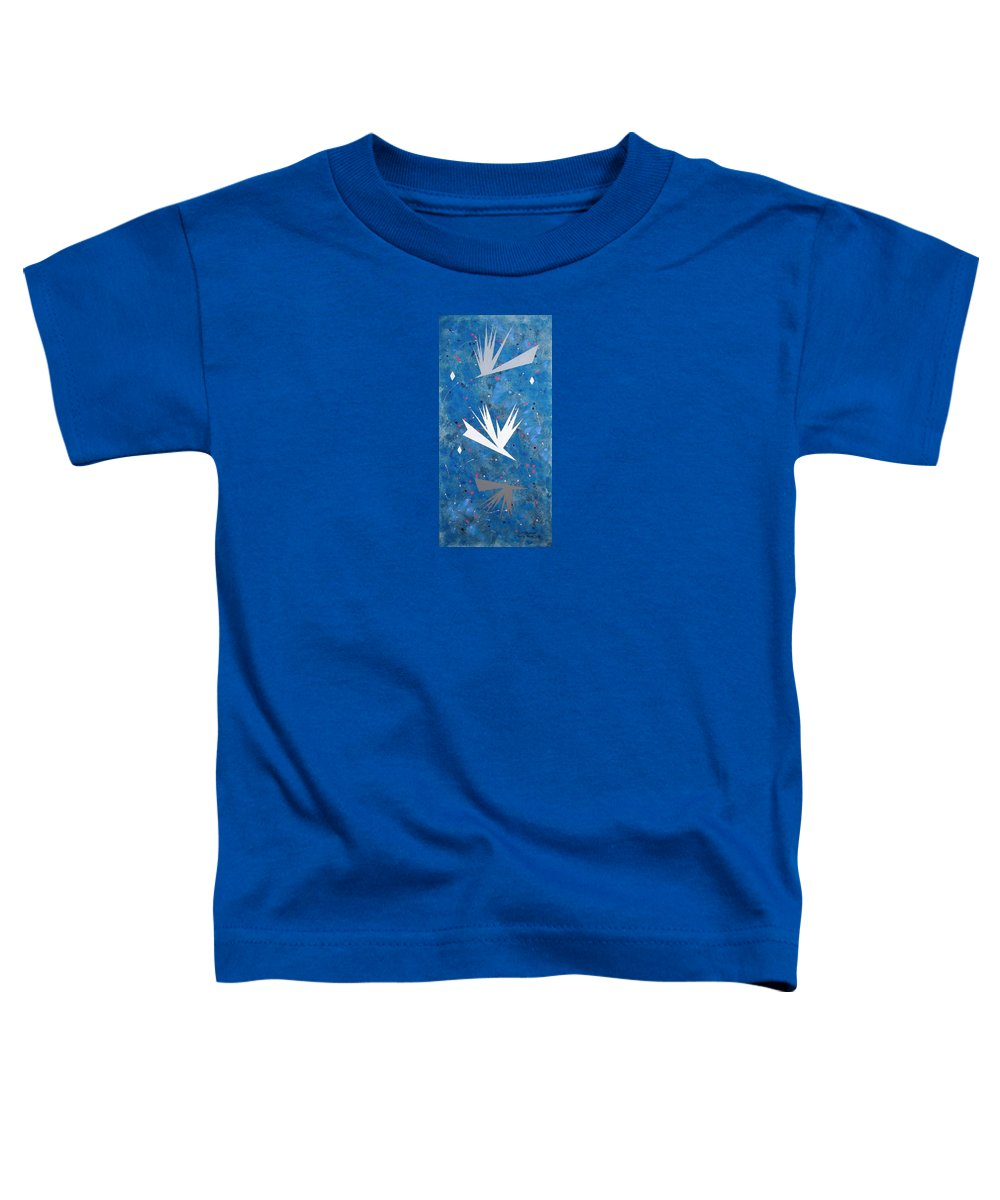 Birds And Diamond Stars Toddler T-Shirt featuring the painting Feeding Frenzy by J R Seymour