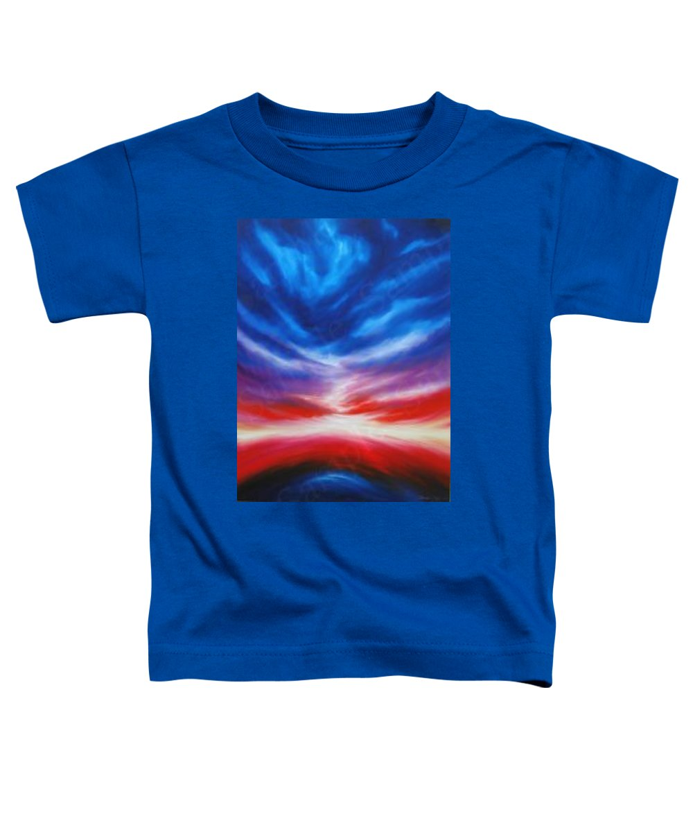 Tempest Toddler T-Shirt featuring the painting Genesis IIi by James Christopher Hill