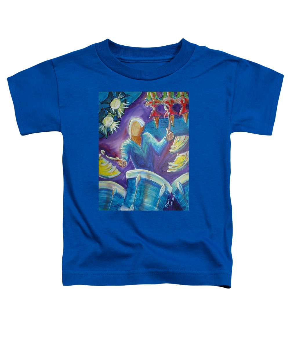 Jazz Toddler T-Shirt featuring the painting Give Me A Beat by Regina Walsh
