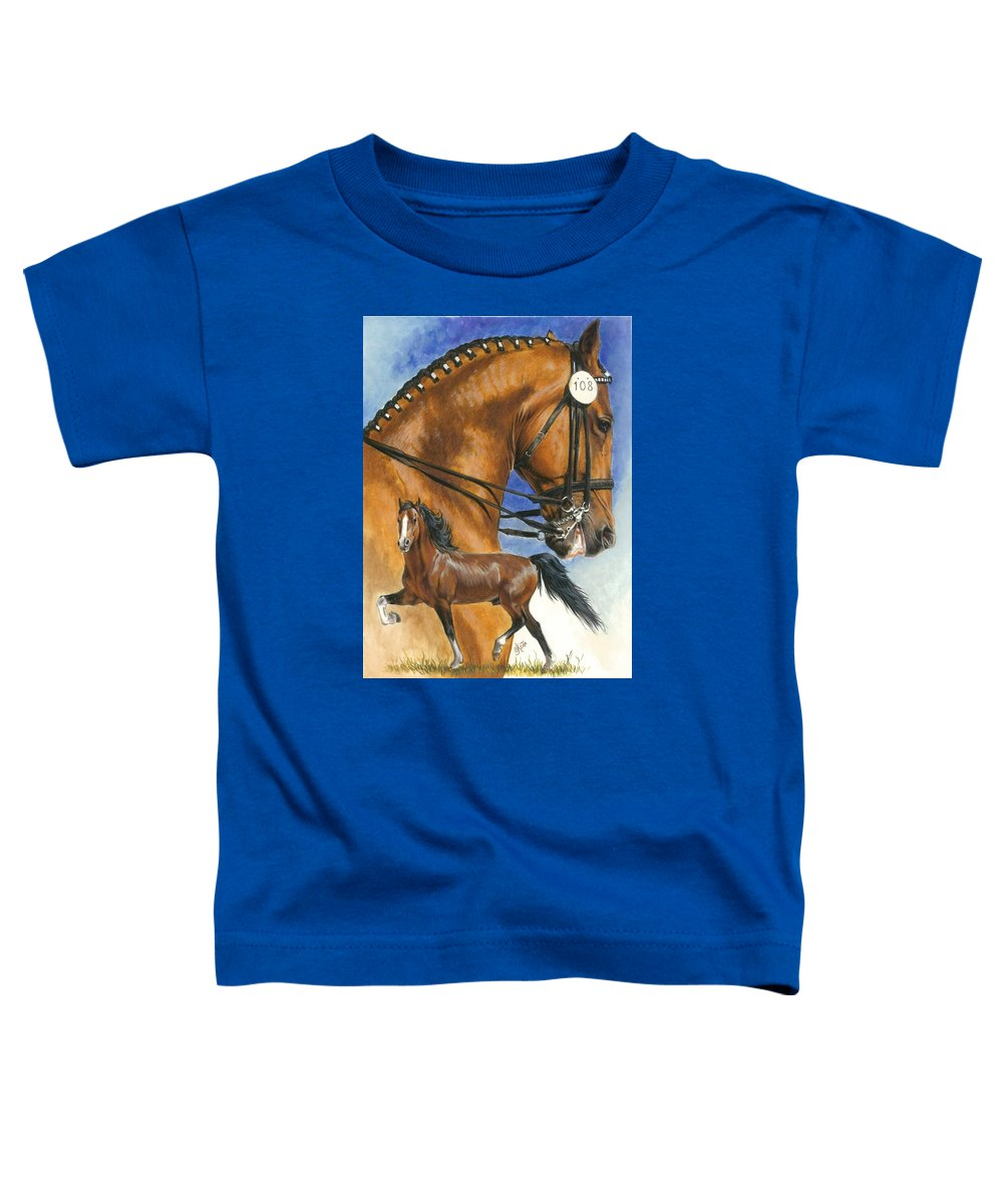 Hackney Toddler T-Shirt featuring the mixed media Hackney by Barbara Keith