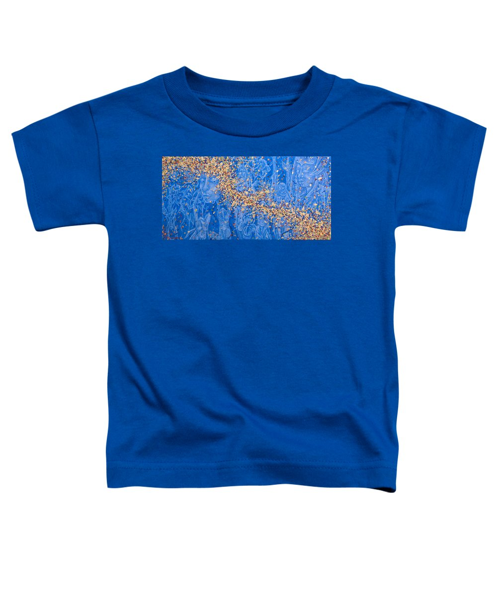 Waterfall Toddler T-Shirt featuring the painting In The Falls by Judy Henninger