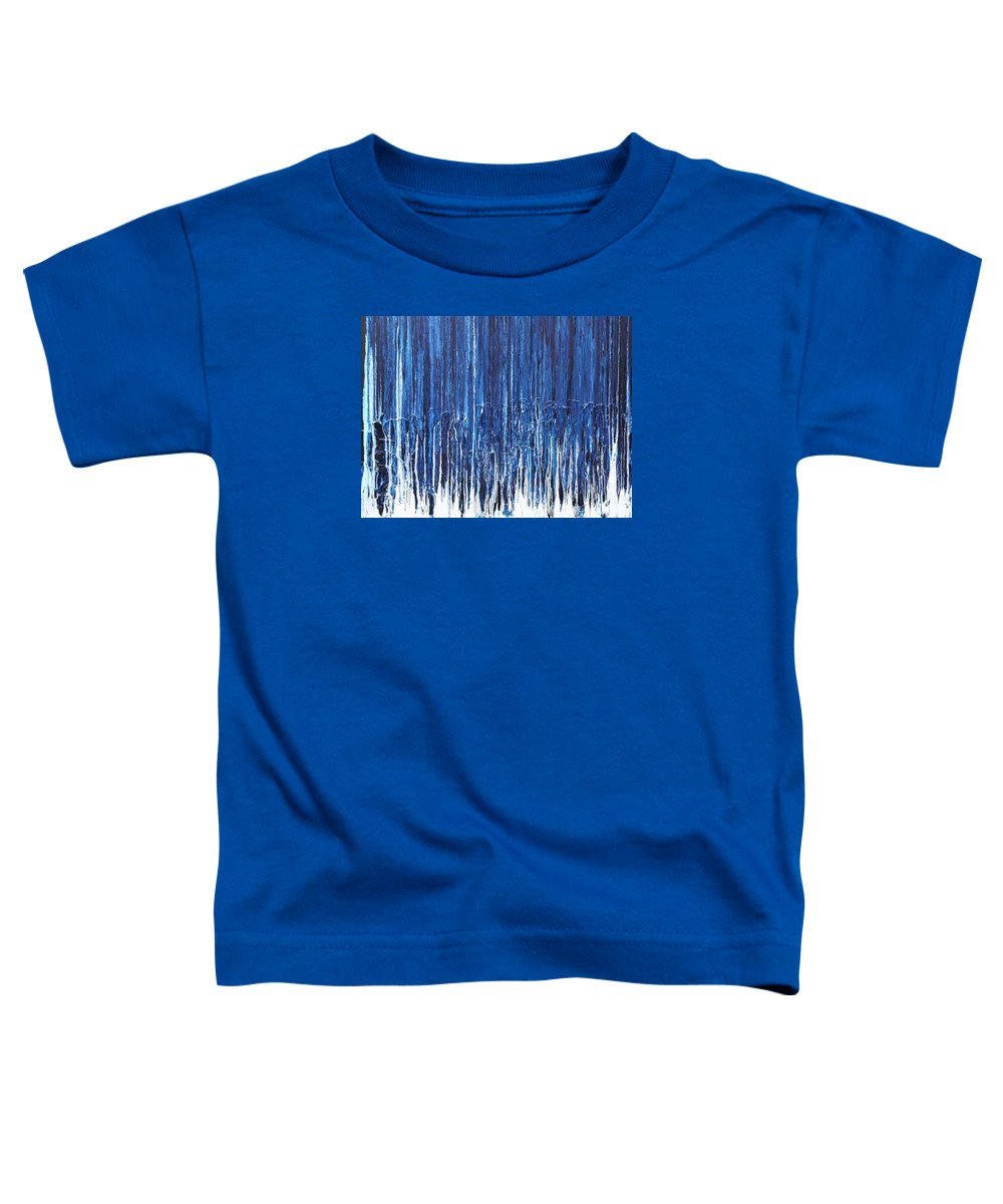 Fusionart Toddler T-Shirt featuring the painting Indigo Soul by Ralph White