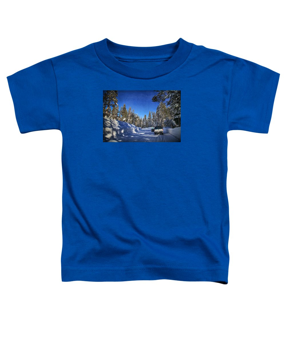 Strawberry Toddler T-Shirt featuring the photograph It Came Down by Laurie Search