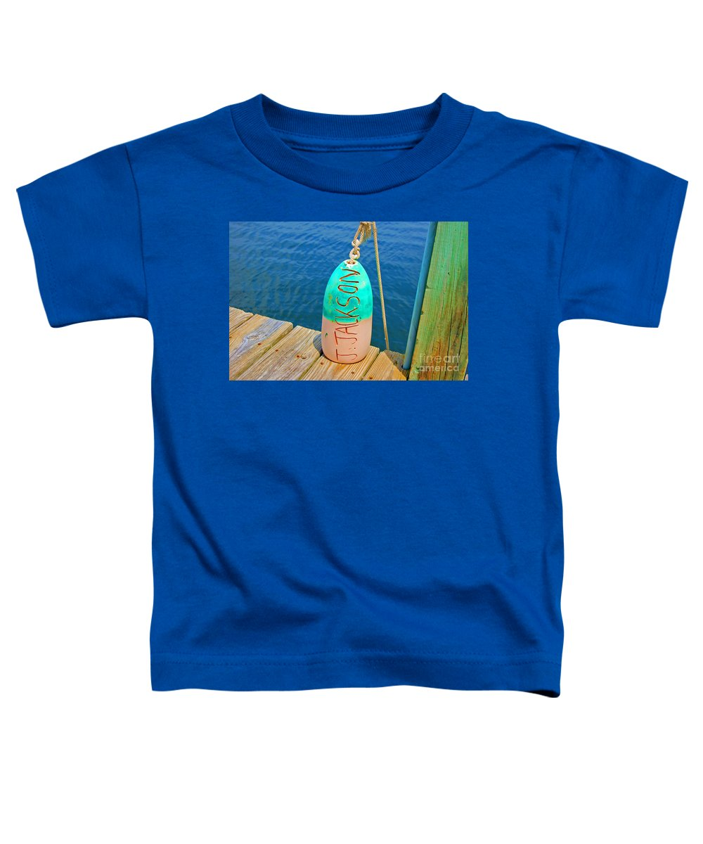 Water Toddler T-Shirt featuring the photograph Its A Buoy by Debbi Granruth