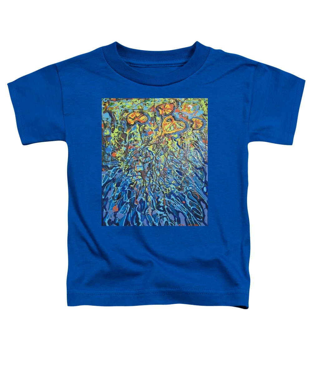Lily Pads Paintings Toddler T-Shirt featuring the painting Lily Pads Water Lily Paintings by Seon-Jeong Kim