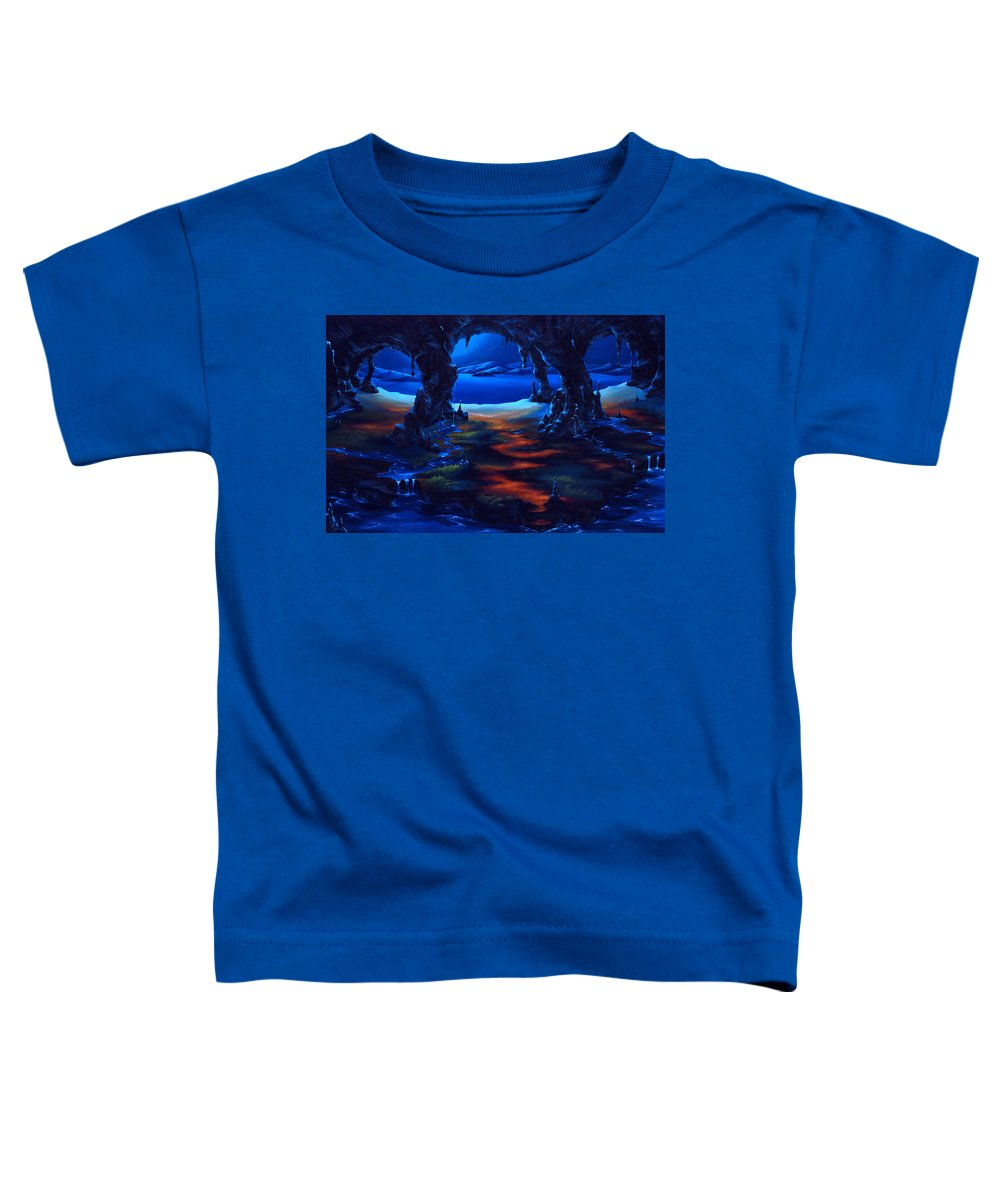 Textured Painting Toddler T-Shirt featuring the painting Living Among Shadows by Jennifer McDuffie