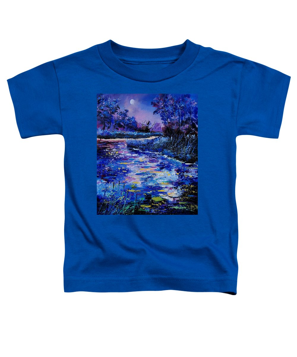 River Toddler T-Shirt featuring the painting Magic Pond by Pol Ledent