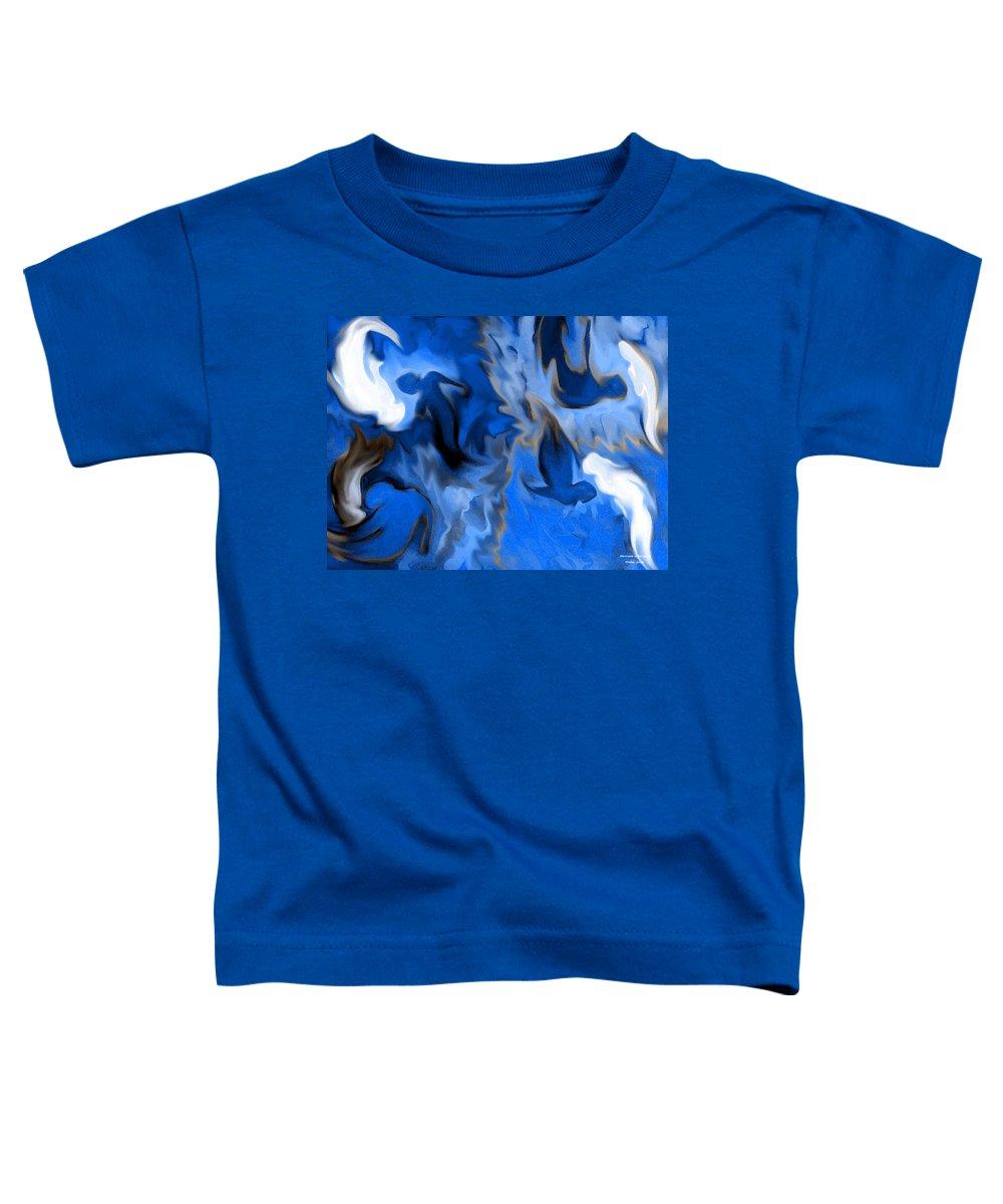 Mermaids Toddler T-Shirt featuring the digital art Mermaids by Shelley Jones