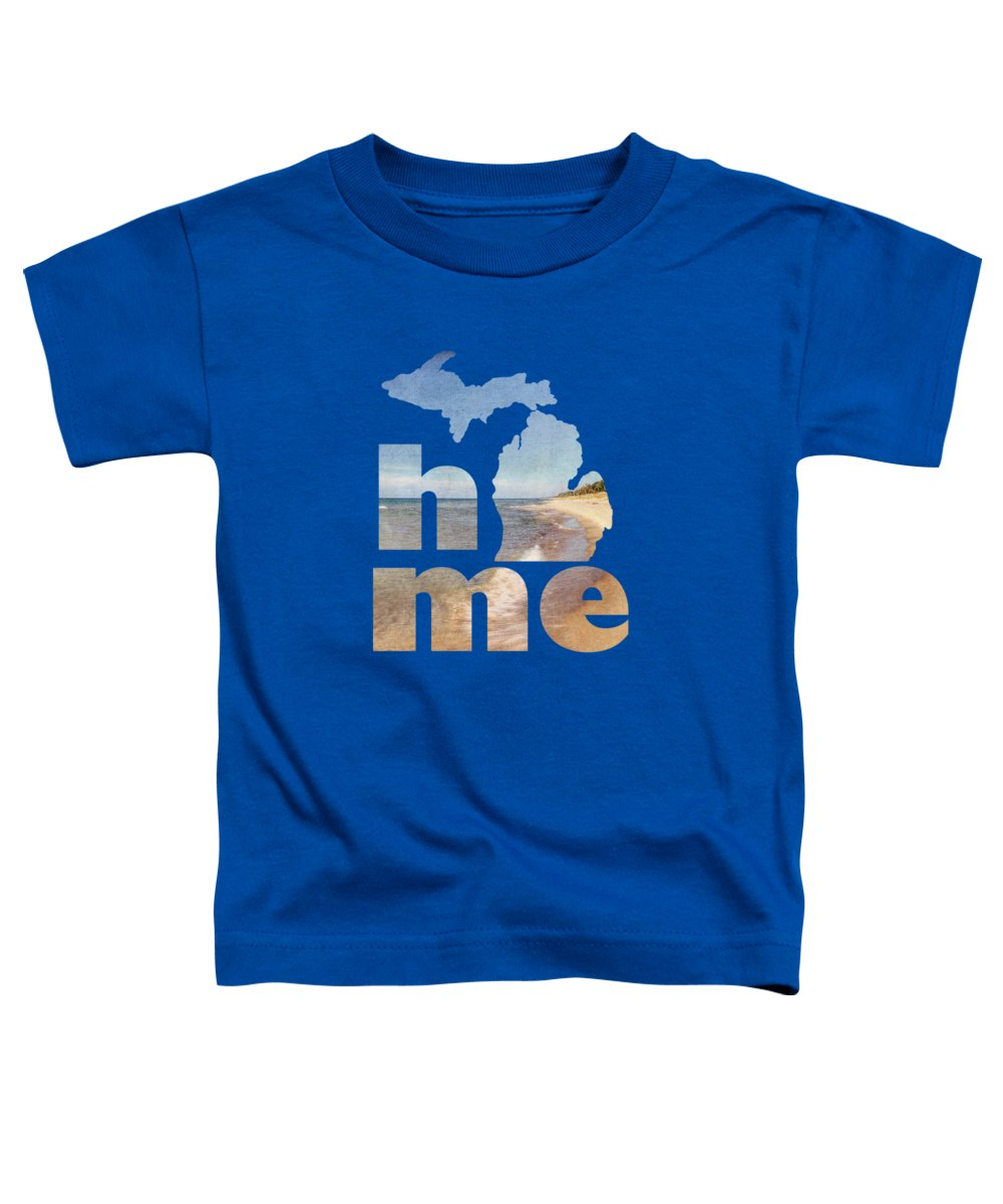 Michigan Toddler T-Shirt featuring the photograph Michigan Home by Emily Kay
