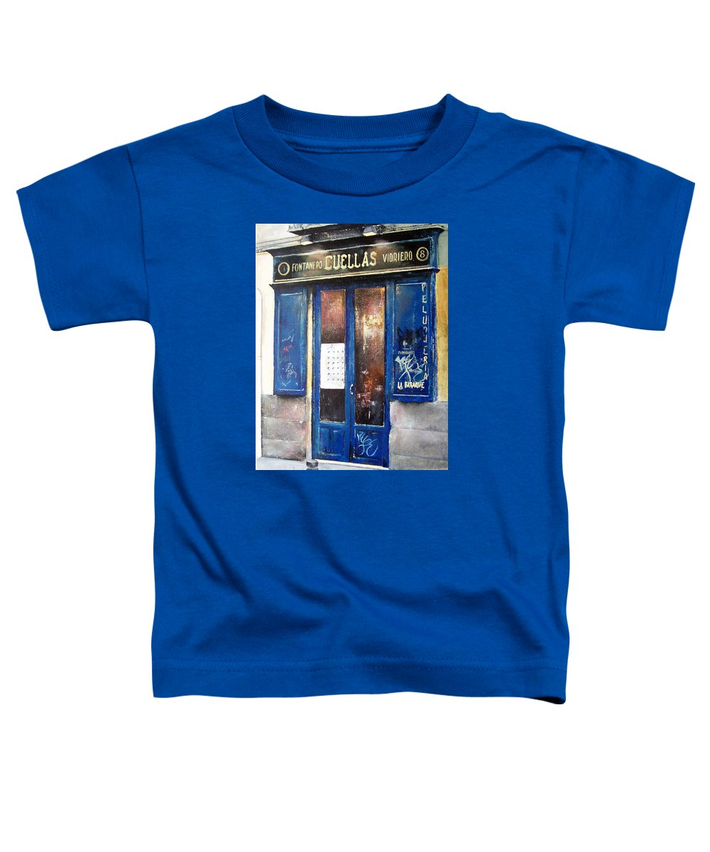 Old Toddler T-Shirt featuring the painting Old Plumbing-madrid by Tomas Castano