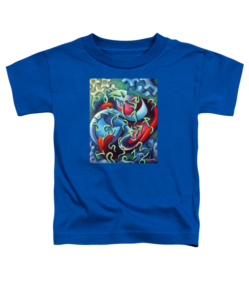 Clocks Toddler T-Shirt featuring the painting Our Inner Clocks by Elizabeth Lisy Figueroa