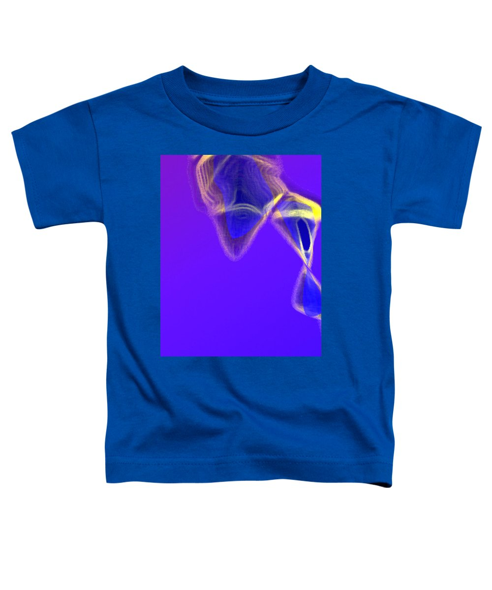 Abstract Toddler T-Shirt featuring the digital art Panel One From Movement In Blue by Steve Karol
