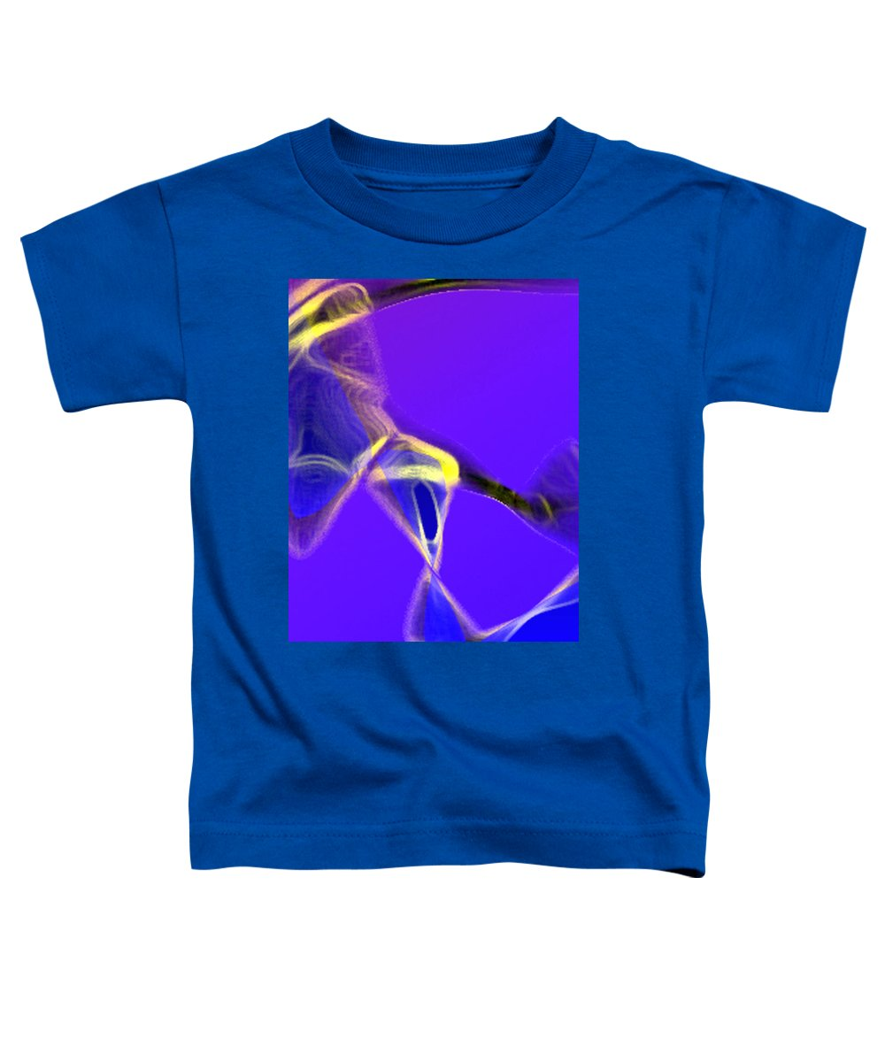 Abstract Toddler T-Shirt featuring the digital art panel two from Movement in Blue by Steve Karol